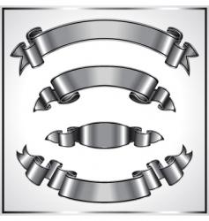 silver ribbons vector image vector image