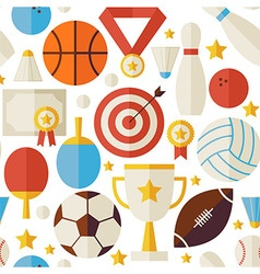 Sport Competition Recreation Flat White Seamless vector image vector image