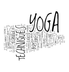 the best yoga techniques is not to contemplate vector image vector image
