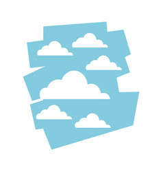 cloud sky day view heaven image vector image