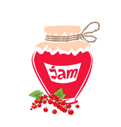 jar of red currant jam vector image