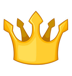 knight crown icon cartoon style vector image