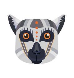 lemur head logo madagascar lemur vector image