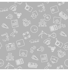 Thin line icons seamless pattern vector image vector image