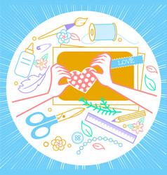 handmade crafts workshop vector image vector image