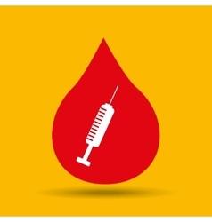 hands care medical syringe icon design vector image
