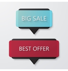 modern big sale and best offer banners on vector image