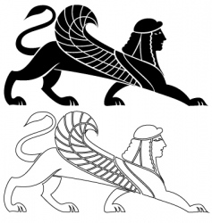 Sphinx wing silhouette vector