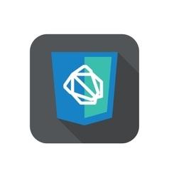web development shield sign - js framework vector image vector image