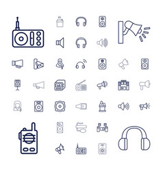 37 speaker icons vector