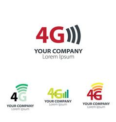 4g design logo concept network logo vector