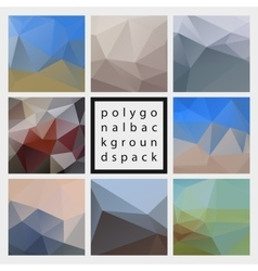 Abstract polygonal design backgrounds pack vector image