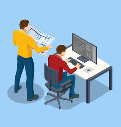 architectural project isometric concept vector image