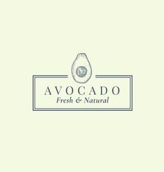 avocado abstract sign symbol or logo vector image