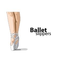 ballet slippers vector image