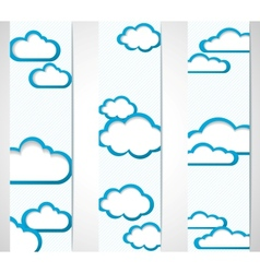 Banners with clouds frames vector image