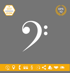 Bass clef icon graphic elements for your design vector