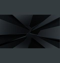 black crack background abstract broken line vector image
