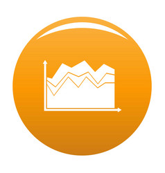 business graph icon orange vector image
