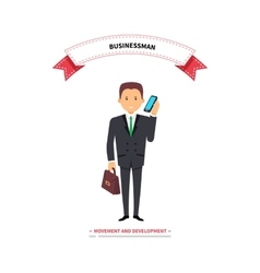 Businessman Speaking on a Phone vector