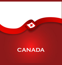 Canada sport style flag ribbon classic style vector