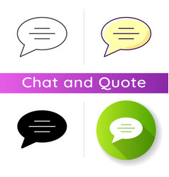 chat bubble icon vector image