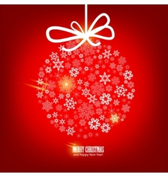 Christmas snowflakes bulb vector