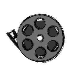 Cinema reel icon vector