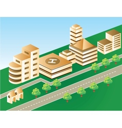 city in brown color vector image