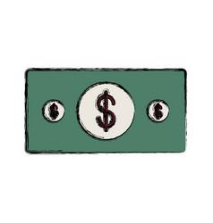 colored bill vector image