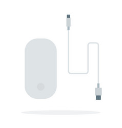 computer mouse with cable usb vector image