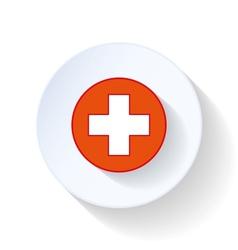Cross ambulance flat icon vector