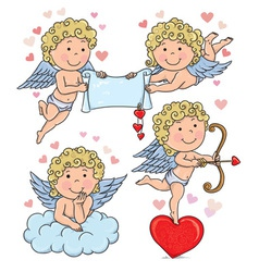 Cupids kids 2 vector image