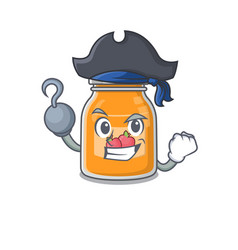 Cute apple jam mascot design with a hat vector