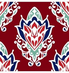 Damask Flower red seamless design vector