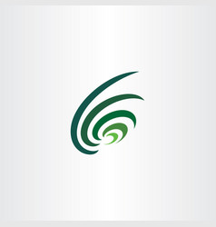 dark green wave logo abstract icon vector image