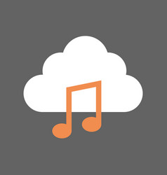 digital music mobile cloud database icon vector image