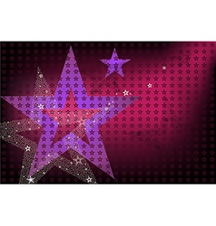 Disco Bright Background With Stars vector