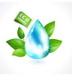 Ecology symbol water drop vector image