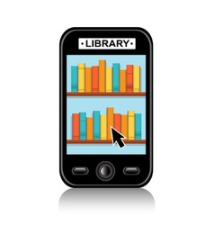 Electronic Library on your phone vector image
