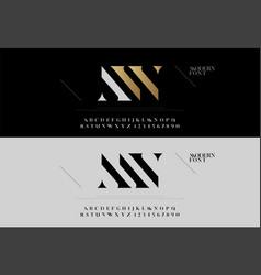 elegant alphabet letters font set modern vector image