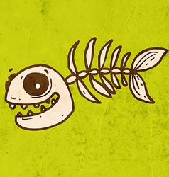 Fish Skeleton Cartoon vector image