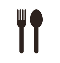Fork and spoon sign vector