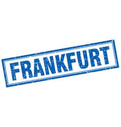 Frankfurt blue square grunge stamp on white vector