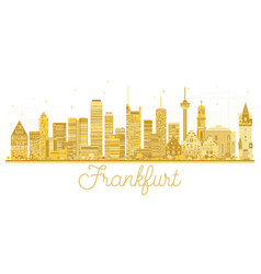 frankfurt germany city skyline golden silhouette vector image