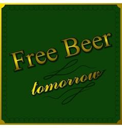 Free beer background vector