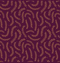 Golden grass seamless pattern vector