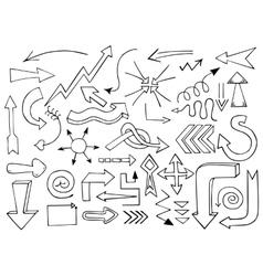 Hand drawn arrows vector image vector image