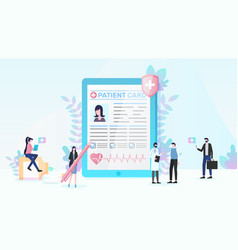 Health insurance and medical services flat vector
