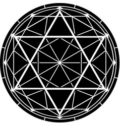 hexagram vector image